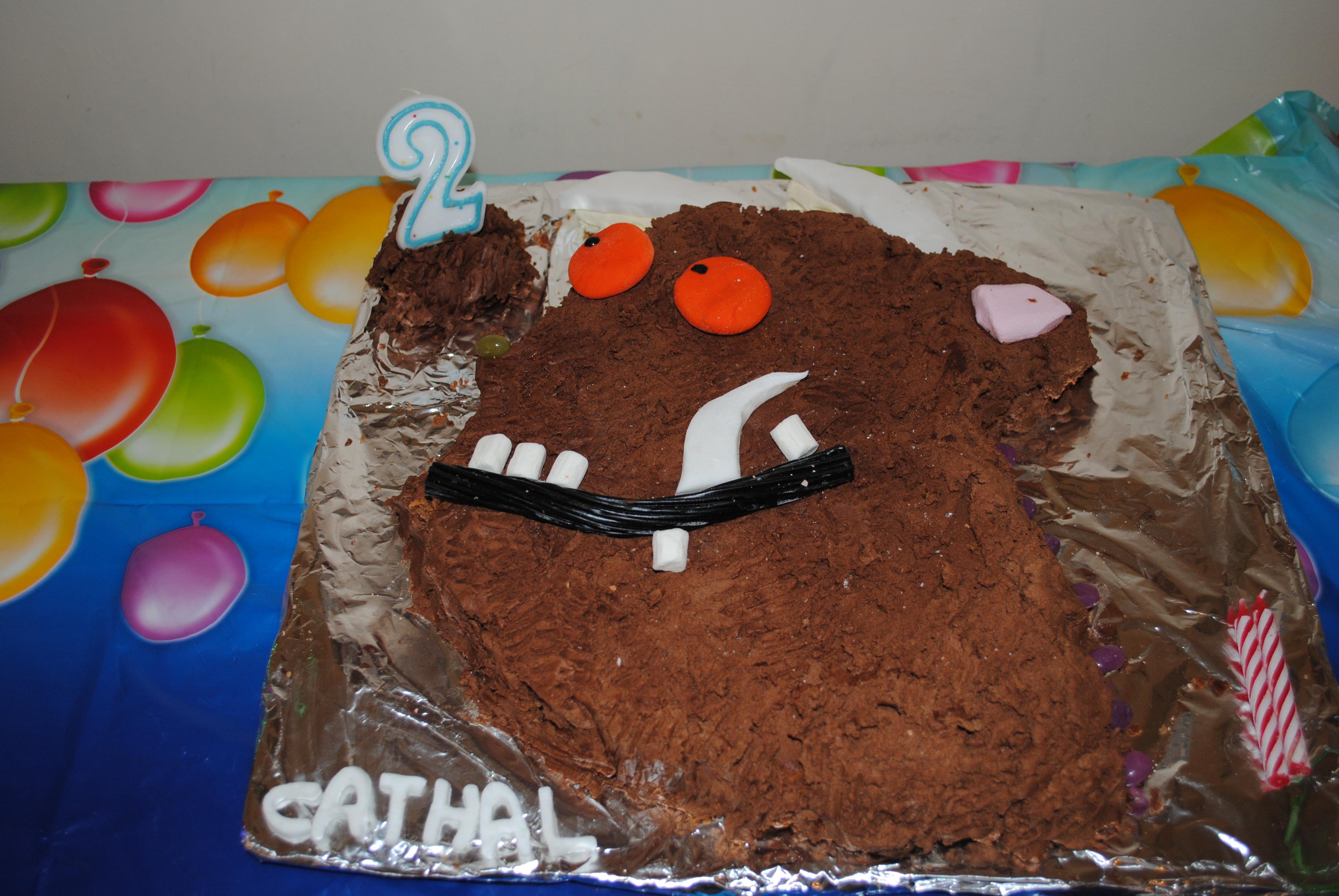 Gruffalo Birthday Cake Bumbles Of Rice