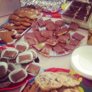 Bakesale Spread, Mint Aero Traybake on the left in the buncases