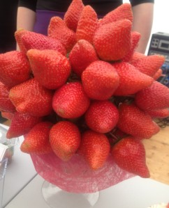 Sunny Wexford Strawberries display at Feast of Wexford