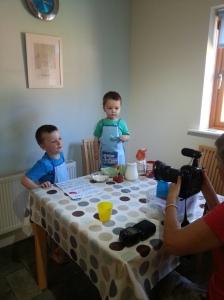 The boys mid photoshoot