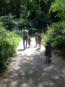 Some children took a stroll in the deep dark wood