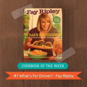 Cookbook of the Week (1)