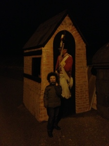 Posing in the dark at Duncannon Fort