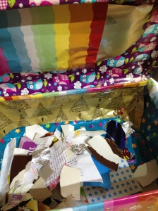 Inside view of Cathal's secret special box