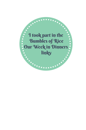 Bumbles of Rice Dinners Linky Badge