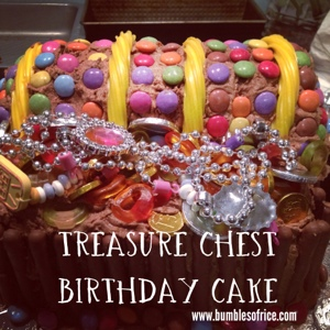 Treasure Chest Cake with text