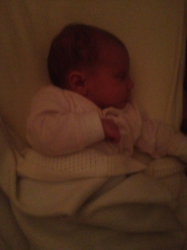 Photo of a newborn asleep in her crib. What's seldom is wonderul Image: Sinead Fox