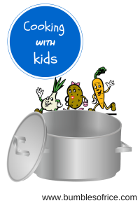 Cooking with kids graphic