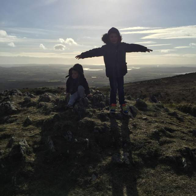 On top of the work, or Sliabh Coillte at least