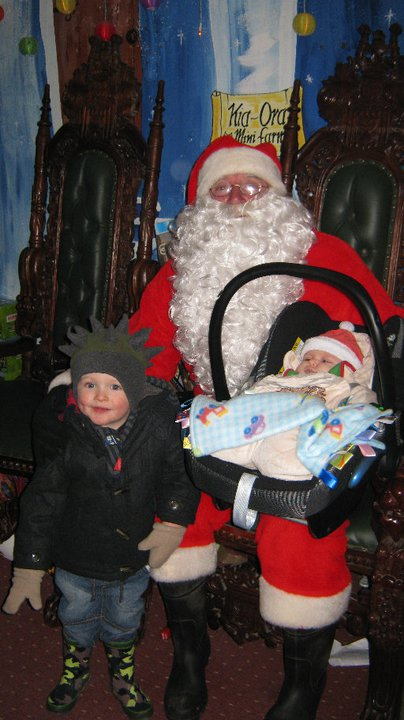 Our first time visiting Santa in Kia Ora, December 2010